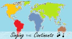 Fun, Easy Song for Teaching Young Children the Names of the Continents Geography For Kids, World Geography, Classroom Helpers, School Videos, School Art Projects, Home Schooling, Social Science, School Fun, Learning Activities