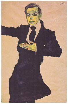 Egon Schiele - Ritratto di Max Oppenheime - 1910