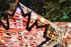 Tunnel installation by Hello Wood Budapest  Hungary