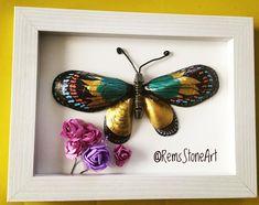 "97 Likes, 4 Comments - RemsStoneArt (@remsstoneart) on Instagram: ""Kelebek - Butterfly (SATILDI  yeni sipariş alınır. boyut:16*21)#stoneart #stonepainting…"""