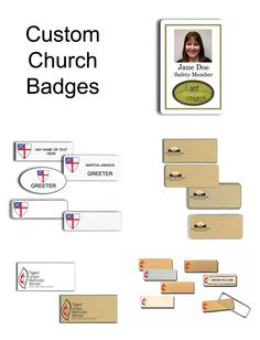 Church Name Tags and Badges