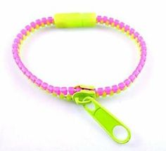 Hip Zip Zipper Bracelet - Pink/Green Abernook. $8.00. Wear one or all colors at at the same time. Great for teen gifts to wear with your BFF's.. Be Hip and Zip it!  Zipper actually works!. Our hip zip is a trendy piece of fashion jewelry that is available in a variety of colors. Gifts For Teens, Teen Gifts, Zipper Bracelet, Gold Chains, All The Colors, Pink And Green, Jewelry Bracelets, Fashion Jewelry, Bfg