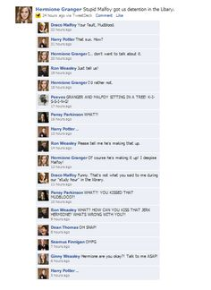 dramione facebook conversations