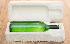 Embalaje biodegradable hecho de setas, se descompone una vez usado.