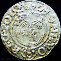 POLAND 1623 Silver 3 POLKER 1/24 Thaler sku #PL31 17th Century, Monet, Poland, Medieval, Coins, Personalized Items, Silver, Ebay, Rooms