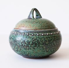 Ancient Turquoise Jar, Stoneware. By DiTerra on Etsy