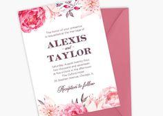 Watercolor Wedding Invitation Watercolor Florals by YourInvites