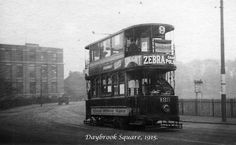Daybrook Square, Nottingham, Public service started on the Arnold extension of Nottingham's Sherwood tram route, via Mansfield Road and Daybrook Square, on 1 January Arnold Photos, Nottingham City, The Old Days, Public Service, Derbyshire, Old Buildings, Leicester, Transportation, Restoration