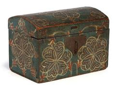 Pennsylvania small dome box, attributed to the Compass Artist, early 19th century.