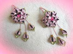 Цветы канзаши, заколки из атласных лент для девочки, МК - YouTube