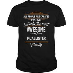 MCALLISTER Name tee Shirts