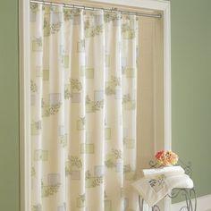 Croscill Rainier Shower Curtain - foliage motifs are printed on this sheer shower curtain #bathroom #decor #showercurtain