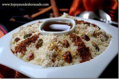 Seffa royal , couscous au miel et halwa