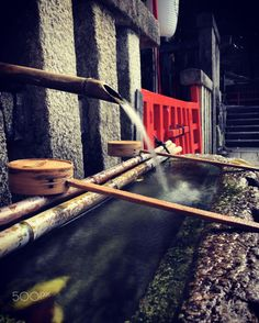 Sacred Water - At Kamomioya Shrine
