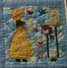 """My quilt block from the book: """"Bonnet Girls-Patterns of the Past"""" by Helen R. Scott."""