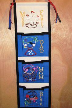 3 pocket Disney Cruise Fish Extender Pirate themed via Etsy