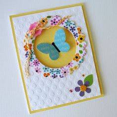 Card-Blanc by Kathy Martin: Butterfly Card
