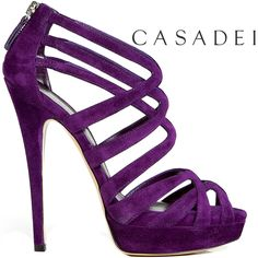 Oh for heavens sakes..purple, sky high heel, cage style? Here's all my money, gimme these shoes!!