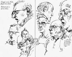 Lynne Chapman - SketchJam event: drawing the rehearsals of Chaple-en-le-Frith Male Voice Choir Human Figure Sketches, Figure Sketching, Sketches Of People, Drawing People, Sketch Inspiration, Art Journal Inspiration, Gcse Art Sketchbook, Sketchbooks, Observational Drawing