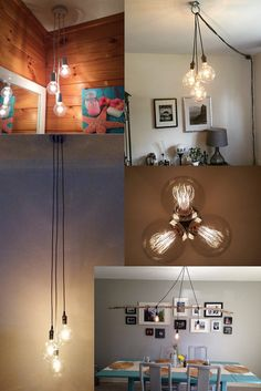 3 Cluster Any Colors Multi Pendant Hanging by HangoutLighting, dining table and maybe kitchen?