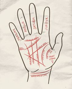 Palm Reading Cheat Sheet. great DIY for a fortune teller halloween costume