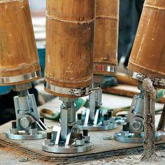 Bamboo steel footing