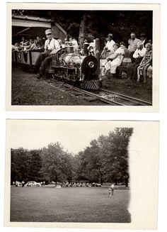 Springbank Park Train   Two Original Snaps C. 1950s #ldnont