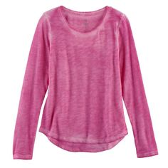 Girls 7-16 & Plus Size SO® Core Tee, Size: 12 1/2, Dark Pink