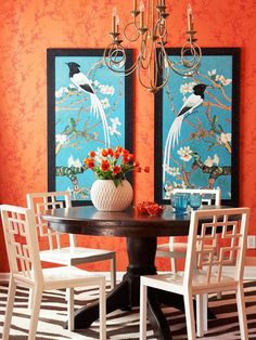 Chinoiserie Chic: Orange and Blue Chinoiserie