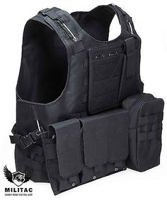 Black #tactical #vest. airsoft /paintball molle combat assault vest + mag #pouche,  View more on the LINK: 	http://www.zeppy.io/product/gb/2/281524018162/