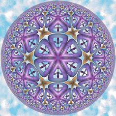 Circular Hyper Kaleidoscope VII by Vladimir Bulatov