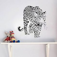Description: Size: S: x ( x ) M: x ( x ) L: x ( x Category: Animals Wall Stickers Material: Vinyl Wall Stickers Room : bedroom, living room, Kids Room Color : Black Includes : Leopard Leopard Wall, Wall Stickers Room, Animal Wall Decals, Cat Decor, Removable Wall, Room Colors, Glass Art, Kids Room, Animals