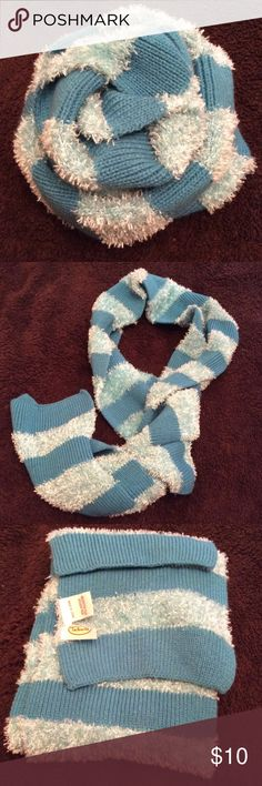 SALE ❤️ Talbots Turquoise Scarf This is super cute. Striped scarf. It does have a small hole, thus the price, but it is an easy fix. Talbots Accessories Scarves & Wraps