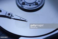 Stock Photo : Fingerprint on harddisk