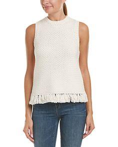 Rue La La — Theory Meenara.Soft Chain Cotton Sweater