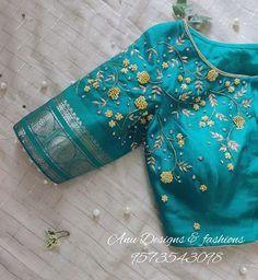 Silk Saree Blouse Designs, Saree Blouse Patterns, Latest Silk Sarees, Work Blouse, Blouse Styles, Western Wear, Indian Fashion, Fit And Flare, Fashion Design