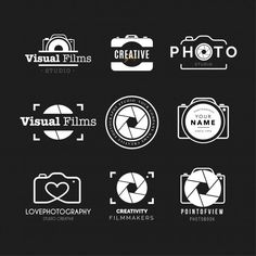 Designer Shows What He Considers To Be Good Design By Creating Logos With Hidden Symbols Best Photography Logo, Photography Business Cards, Free Photography, Fotografia Free, Logo Foto, Logos Ideas, Logos Retro, Camera Logo, Photographer Logo