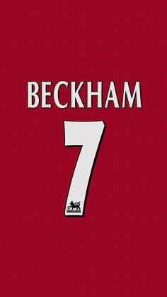 David Beckham of Man Utd wallpaper.