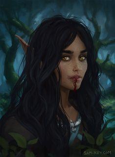 Bel the Wood Elf. Bel belongs to owner. Elves Fantasy, Fantasy Forest, Fantasy Rpg, Medieval Fantasy, Fantasy Portraits, Character Portraits, Fantasy Art Women, Fantasy Girl, Dnd Characters