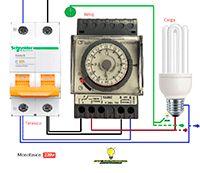 Esquemas eléctricos: Reloj electrico para alumbrado