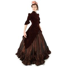 Ava Polonaise Ensemble: I want this reproduction outfit. Victorian Steampunk, Victorian Fashion, Vintage Fashion, Victorian Dresses, 1800s Dresses, Victorian Costume, Modern Victorian, Vintage Couture, Steampunk Diy