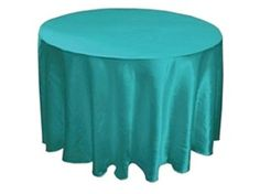 Turquoise Satin Round Tablecloths!
