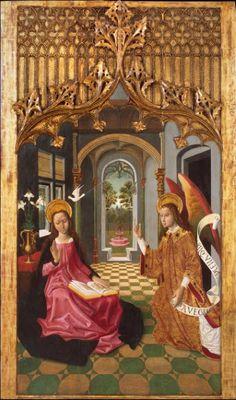 One of the few Annunciations  w/ the angel on the right!  Maestro de la Seo de Urgell