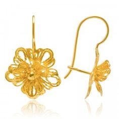 Flamboyant Baby Blossom Earrings - MettaGems | Natural Gemstone Jewelry, Direct from manufacturers  18K Solid Gold