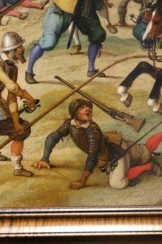 Sebastian Vrancx Uberfall auf einen Geleitzug 1618  Detail.
