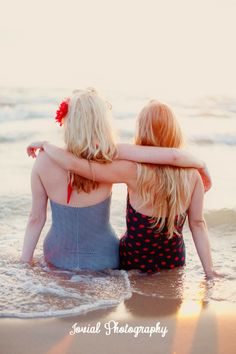 Jovial Photography: 1950's Styled Shoot, beach, vintage, pin-up, best friends, sunset