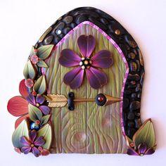Elf Bolt Fairy Door Pixie Portal by Claybykim on Etsy