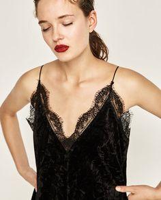 Image 2 of VELVET CAMISOLE TOP from Zara