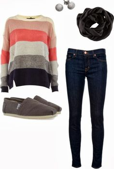 Beautiful fall fashion trend with long sleeve sweater and scarf