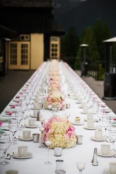 Love the idea of seating your guests at banquet tables! #weddingideas {Will Pursell Photo}